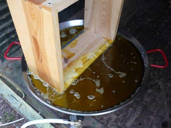 ruche-apiculture: huile de lin extérieur et intérieur? (1/1